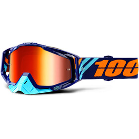 100% Racecraft Anti Fog Mirror Goggles blå/turkos